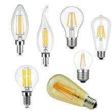E12 E27 E14 Dimmable G45 A60 2W 4W 6W 8W LED Bulb Light Edison Retro Vintage Filament Lamps Replace Incandescent lamp 110V 220V(China)