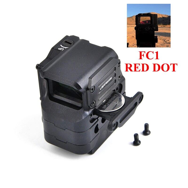 Nuovo DI Ottico FC1 Rosso di Vista del Puntino Reflex Sight Holographic Sight per 20mm Ferroviario Tattico di Caccia A Quattro Colori