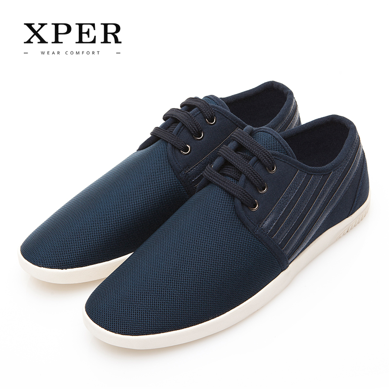 XPER Men Shoes Lace-up Breathable Lighty Men Casual Shoes Fashion Sporty Blue #XAF86002BU