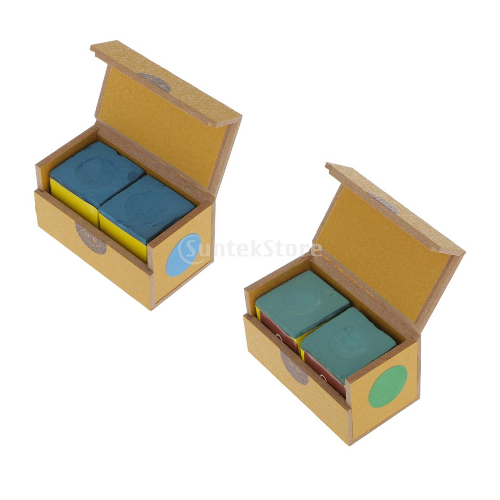 2 Cubes Pool Cue Tip Table Chalk Snooker Billiard Accessories
