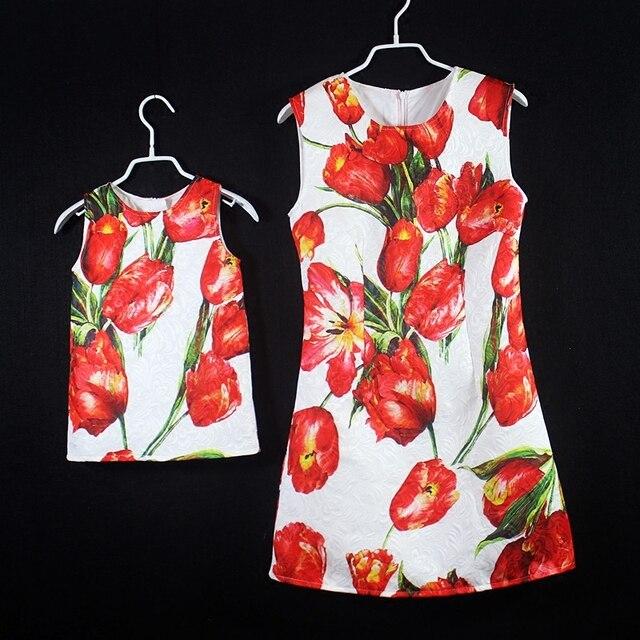 Лето марка семьи сопоставления одежда семья посмотрите наряды матери и дочери день рождения платье мама и дети девушки платья