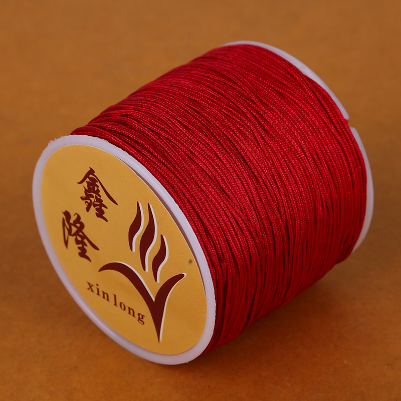 50 метров 0,8 мм нейлоновый шнур, китайский Узелок, шнур макраме, браслет, плетеный шнур, бисероплетение, сделай сам, ювелирный шнур, нить