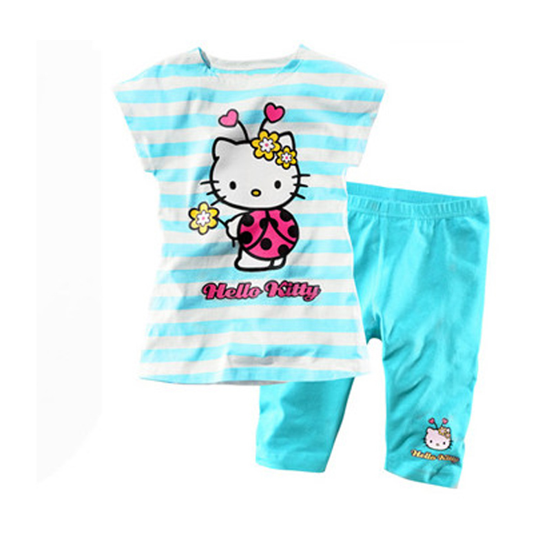 kids clothing set, T-shirt+pant, children set, 2 colors girls clothes