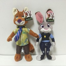 2pcs/lot Zootopia Plush Toy Fox Nick Wilde Rabbit Judy Hopps Animal Doll Toys Christmas Gift for Kid Children