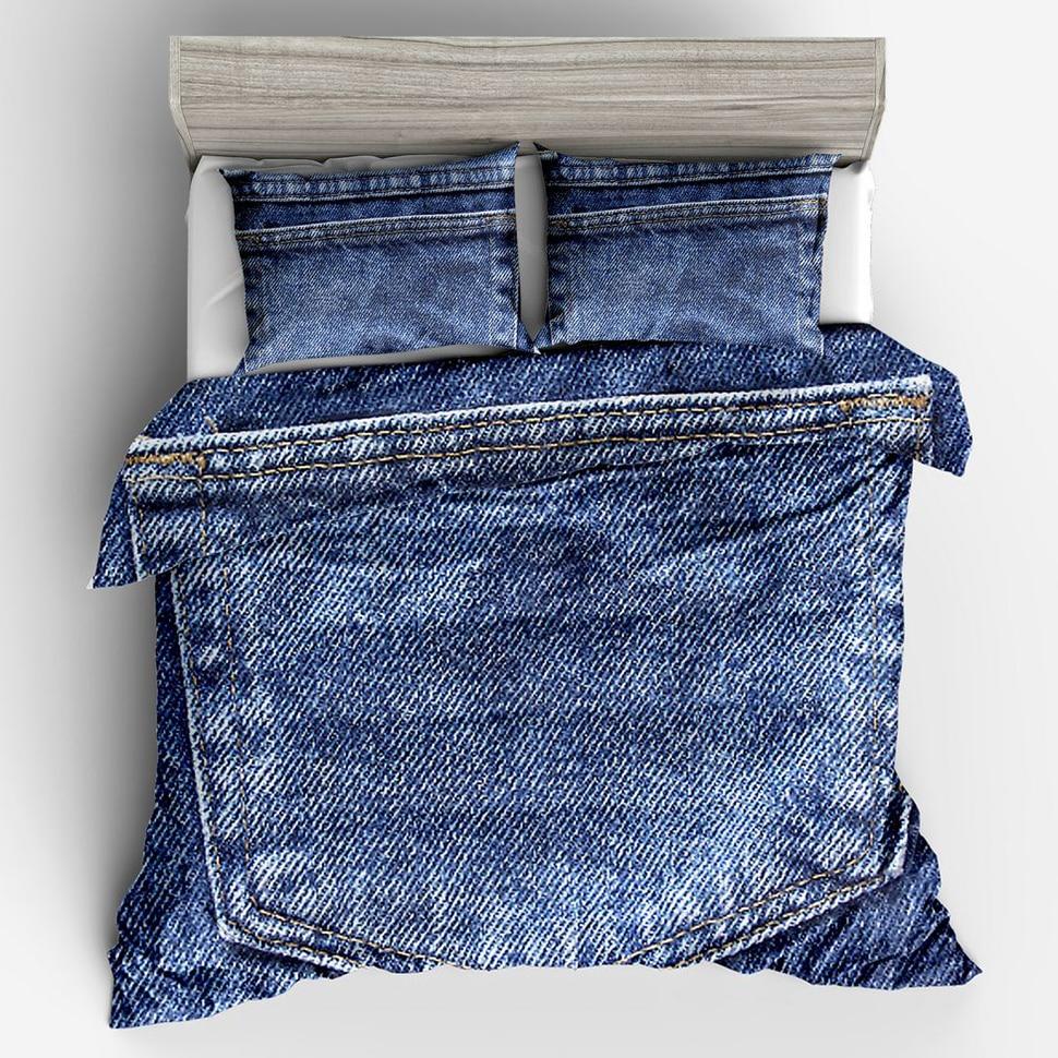 Jeans Pocket Design Boy S Bedding Set Duvet Cover Family