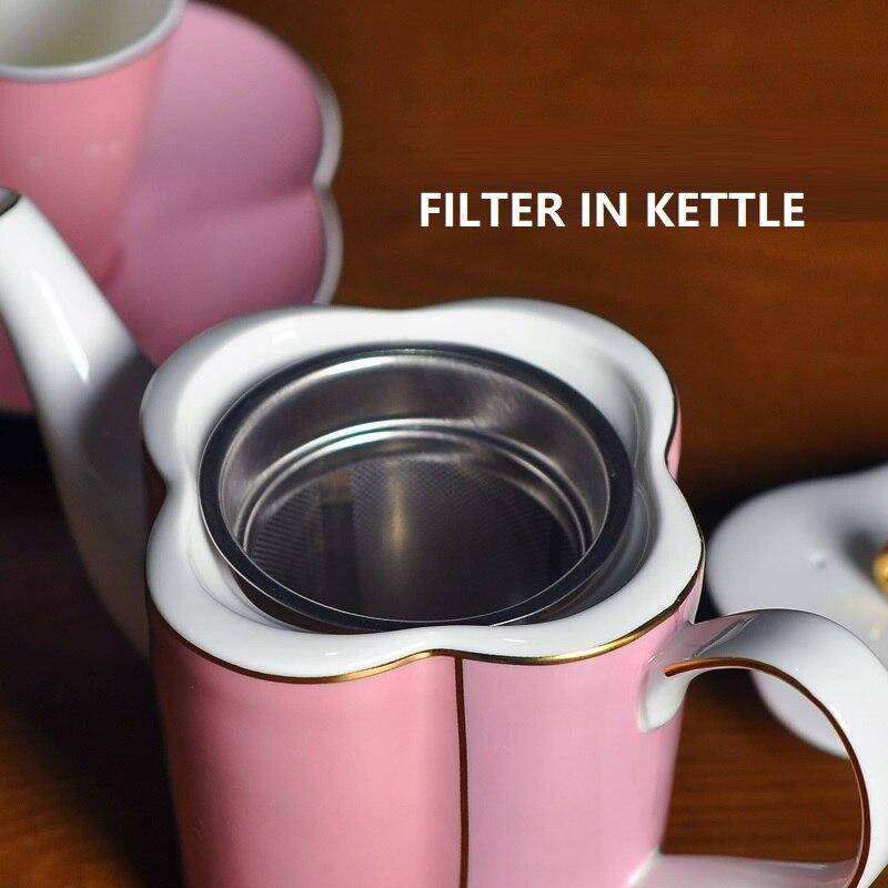 Набор кофейных чашек костяного фарфора английский послеобеденный чай набор керамический торт Свадебная коробка Европейский кофейный набо... - 3