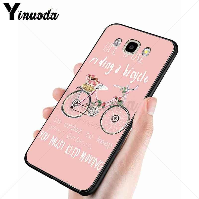 Yinuoda vida é gostar de um passeio de bicicleta cão Tampa Da Caixa de Telefone Para Samsung Galaxy j2prime j4plus j6plus j7 prime j8 2018 Tampa