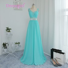 Dressgirl 2017 Cheap Bridesmaid Dresses Under 50 A-line See Through Mint Green Chiffon Lace Sequins Wedding Party Dresses