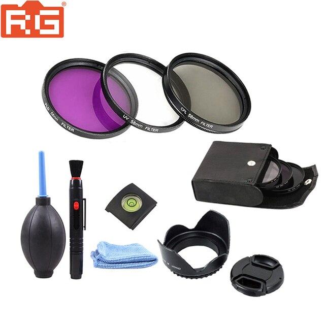 49mm 52mm 55mm 58mm 62mm 67mm 72 mm 77mm Filter kit set 49 72mm UV FLD CPL Circular+Filter bag for Canon nikon sony camera