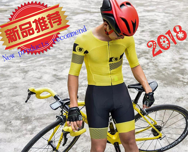 Runchita mens ropa ciclismo verano hombre 2018 conjuntos 9d mtb Summer  short sleeve skinsuit cycling jersey 2018 pro team yellow 9eee7d921