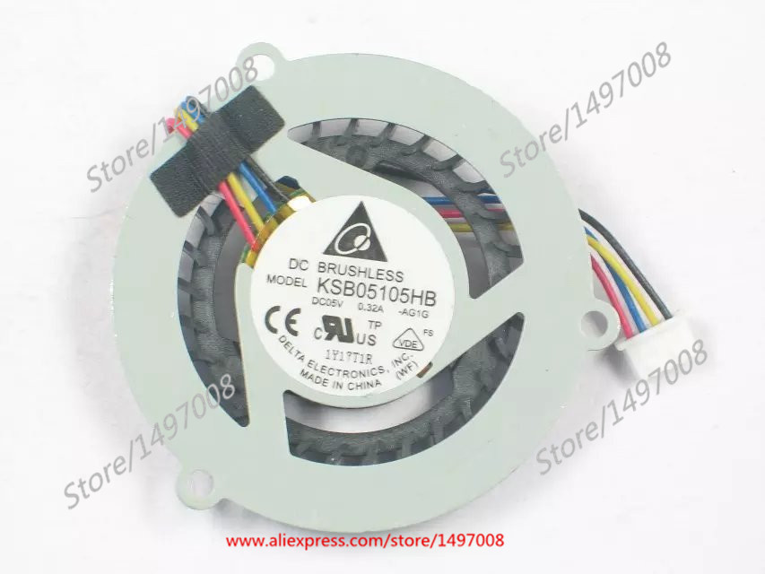 Free Shipping For DELTA  KSB05105HB -AG1G  DC 5V 0.32A 4-wire 4-pin connector 40mm  Server Round fan free shipping for delta afc0612db 9j10r dc 12v 0 45a 60x60x15mm 60mm 3 wire 3 pin connector server square fan