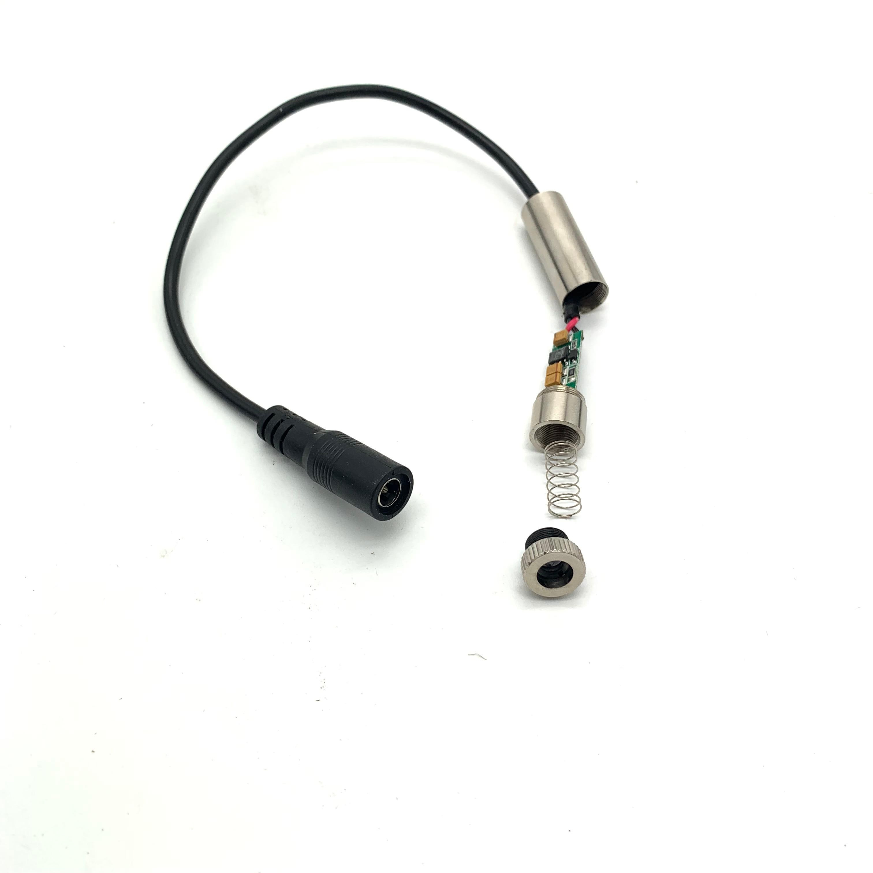 Image 3 - Реальная власть фиолетовый лазерный модуль 100 mW/250 MW 405nm Фокус Регулируемая лазерная головка 5V промышленные Класс DIY лазерный модуль-in Запчасти для деревообрабатывающих станков from Инструменты