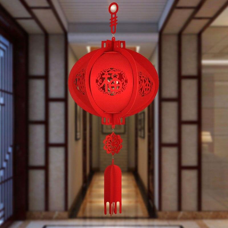 Подвесной стеллаж Happy год Удачи Китайский Фонари китайский красный Фонари Весна фестиваль повезло Фонари красивые украшения