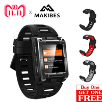BLACK FRIDAY $65 $6 Free strap In stock Makibes G08 GPS Bluetooth4.0 IP68 Waterproof Heart Rate smart watches men's Multi sports