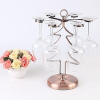 Red wine cup holder European style home decoration wine glass holder hanging high glass wine cup holder