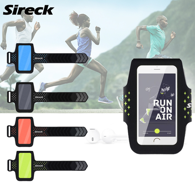 """Sireck Running Bags Touchscreen 5.0"""" 5.8"""" Armband Phone Waterproof Arms Bag Accessories Gym Sport Fitness Jogging Run Bag 45 cm 1"""