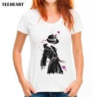 TEEHEART 2017 New Brand Black Hat Coat Lady Summer Customized Print Short Sleeve O Neck Women