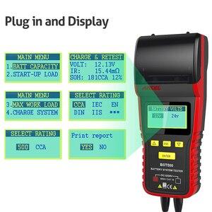 Image 3 - Ancel bst500 12 v 24 v analisador de testador de bateria de carro automotivo carro 24 v caminhão bateria tester ferramenta 100 a 2000 cca embutido impressora