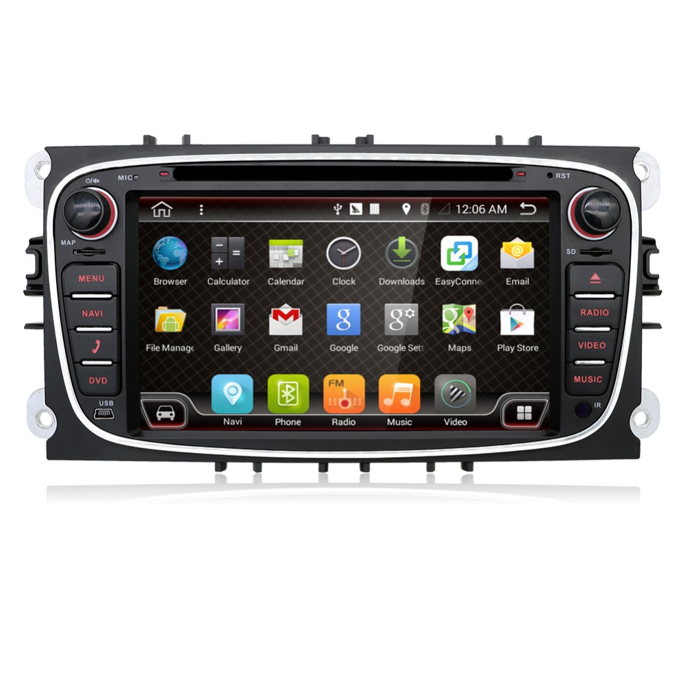Bosion Quad Core 2 Din Android 7 Car Radio Central Multimedia For Ford Focus Mondeo Galaxy