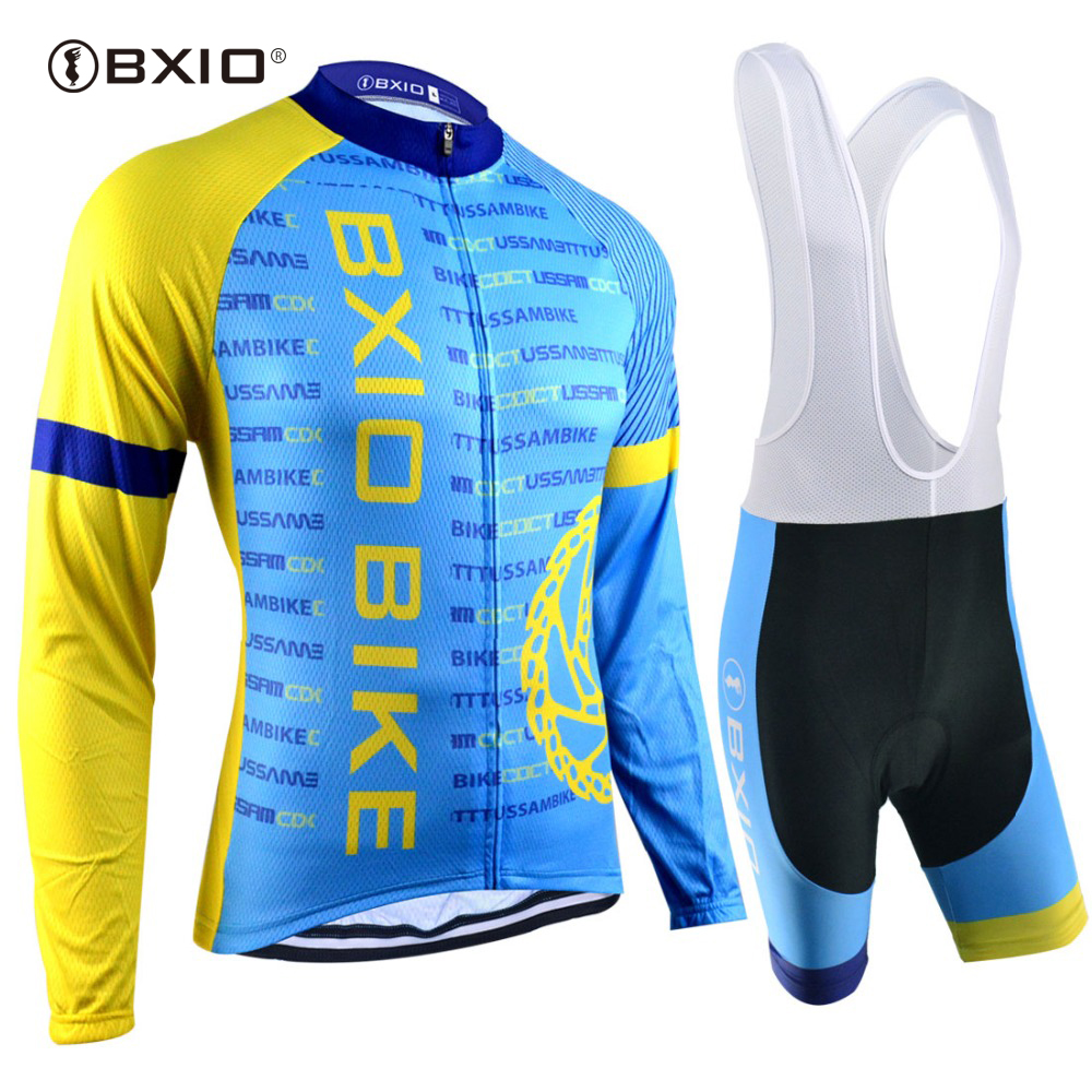 EU Brand BXIO Cycling Jerseys Autumn Long Sleeves Breathable 5D Gel Pad Bicycle Clothing Team Bike Clothes Maillot Ciclismo 041 spring autumn pro team colombia mens long sleeves cycling jerseys breathable bike clothing mtb ropa ciclismo bicycle maillot