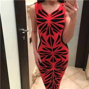 Summer-Dress-Women-Sexy-Pencil-Party-Dresses-Bodycon-Sheath-Vintage-Fitness-Vestidos-Print-Cute-Red-Women