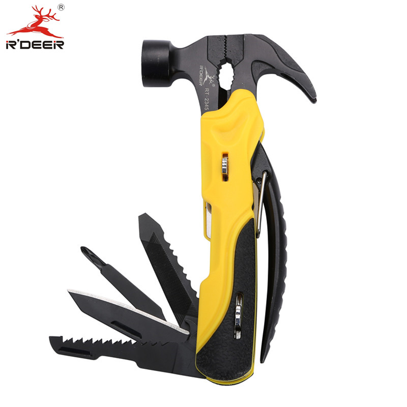 RDEER Survival Knife Multi-Function Outdoor Mini Alicates plegables Cuchillo Destornillador Herramientas manuales