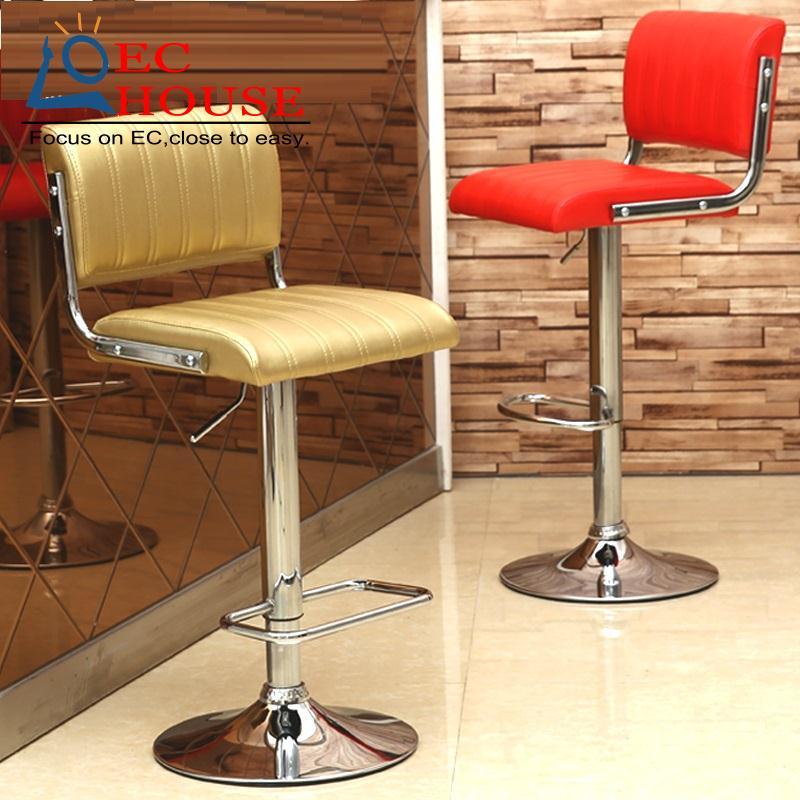 Backrest cashier lift bar stool cr simple free shipping (al-.