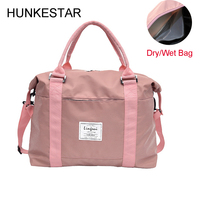 Sports Bags for Fitness Women 2019 Gym Bags with Dry Wet Separation Space for Pink Black Shoulder Travel Training Yoga Pack