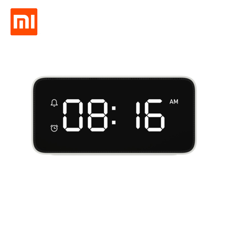 Xiao mi Xiaoai Intelligent Diffusion Audio Alarme Horloge ABS Table Dersktop Horloges AutomaticTime travaux D'étalonnage avec mi maison app