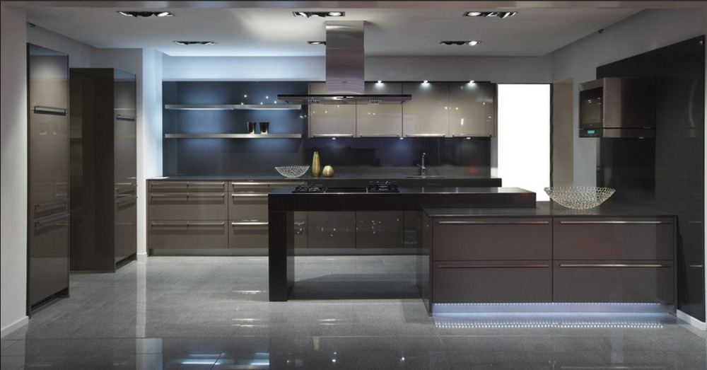 2017 Free Design Customized High Gross Lacquer Cupboard Modern Kitchen Cabinet With Counter Top Quartz