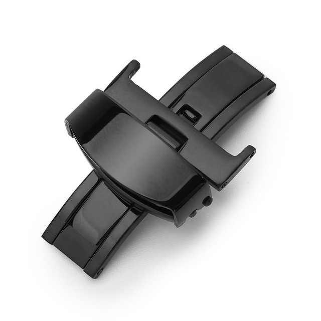 18mm 20mm 22mm paslanmaz çelik kelebek dağıtım katlanır toka toka için Metal kilit deri saat kayışı kayış gül altın
