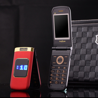 Slim Dual Display Senior Mobile Phone Dual Sim Flip Big Font Loud Sound Touch Screen Metal Body Colorful Blacklist P303