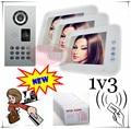 1V3 RFID CARD &PASSWORD unlock Touch button 8inch Video door phones intercom systems outdoor unit strongest waterproof(IP65)