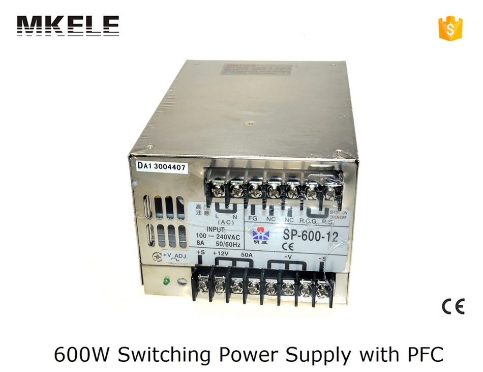 ФОТО customized 13.5v smps multi terminals wide range SP-600-13.5 44A 600w ac dc switching model power supply with CE certified