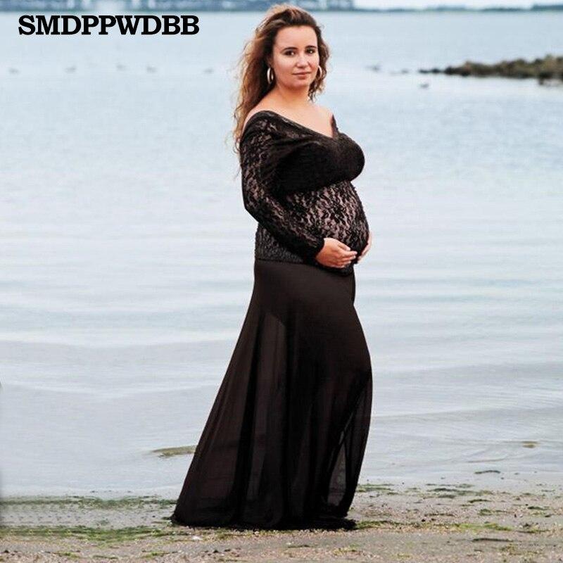 0fb2602ba481d ... Maternity Photography Props Fancy Gown Lace Prengancy Dress Women Plus  Size Dress. sku: 32829445174