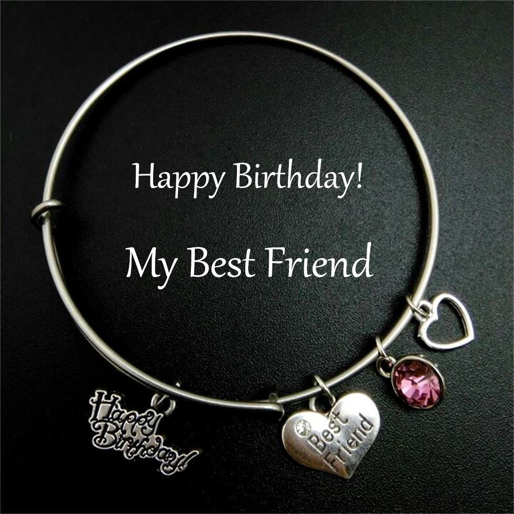 Stainless Steel Expandable Wire Bangle Happy Birthday Birthstone Charm  Bracelet Gift For Best Friend Diy Jewelry