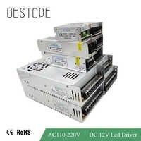 Transformadores para iluminación de AC 110 V-220 V a DC 12 V 2A 3A 5A 10A 15A 30A 33A interruptor adaptador Led controlador fuente de alimentación LED tira de luz