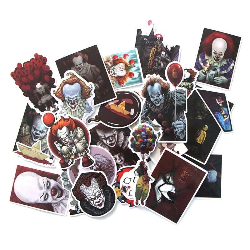 24 Pcs Enge Clown Grappige Scrapbooking Voor Muur Notebook Telefoon Bagage Laptop Gitaar Graffiti Decal Album Stickers M2365