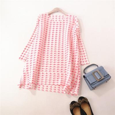 Mode Miyake bleu cou Longues T Chaude À Impression Manches shirt Vente En Poule Noir Stock D'o rose Fold 5ESaxq