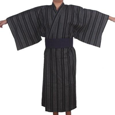 3 шт./компл. кимоно пижамы Японии халат-кимоно мужские хлопок халат мужской салон халаты с Оби Летние пижамы комплект A52802