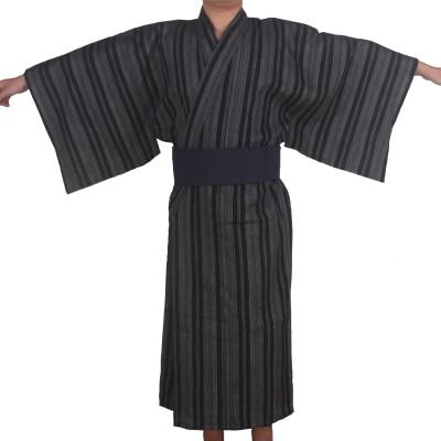 3pc/set Kimono Sleepwear Japan Kimono Bathrobe Mens Cotton Dressing Gown Male Lounge Robes With Obi Summer Pajamas Set A52802