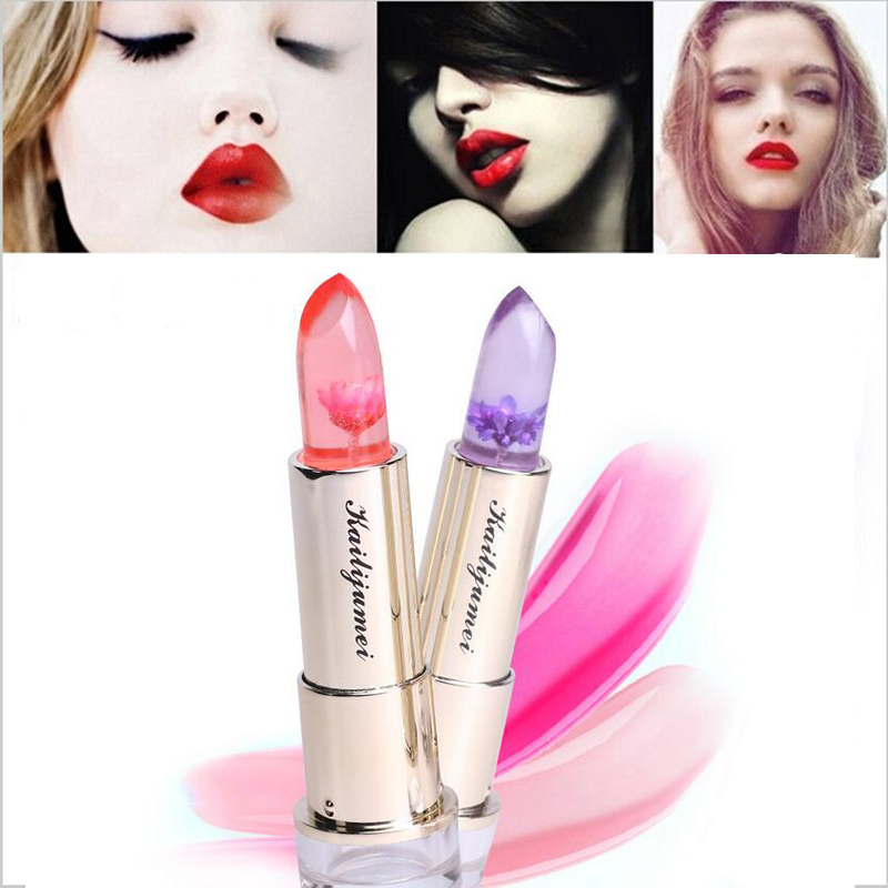 Brand New Kailijumei Lip Stick Makeup Magic Color Temperature Change Moisturizer Bright Surplus Lipstick Lips Care 3 Colors image