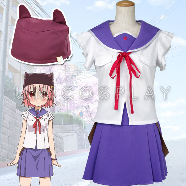 New Anime School-Live! Yuki Takeya School Uniform Hat Full Set Cosplay Costume