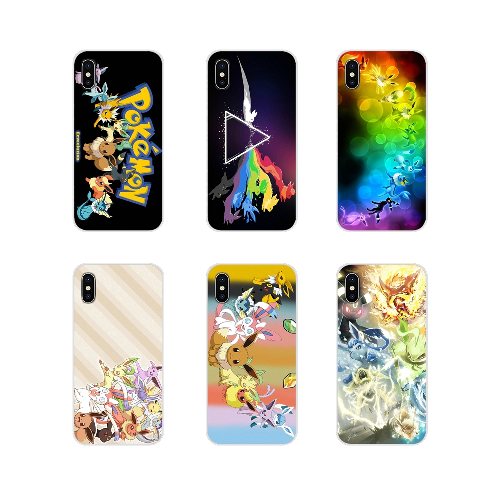 Rainbow Pokemon Eevee Evolution Art Accessories Phone Shell Covers For <font><b>Samsung</b></font> Galaxy A3 A5 A7 J1 J2 J3 J5 <font><b>J7</b></font> 2015 2016 <font><b>2017</b></font> image