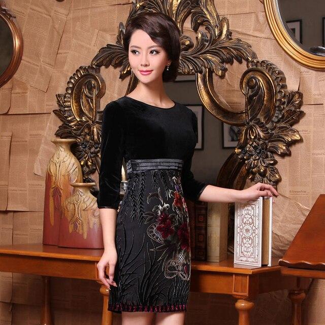 Flower fairy 2013 cheongsam fashion women's half sleeve vintage cheongsam dress g95112