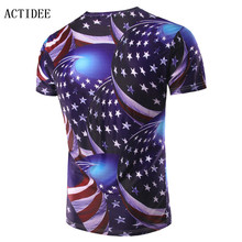 2017 Summer O Neck T Shirt Newest Style 12 Color US UK Australia Germany Flag 3D Print Men Brand Famous Luxury Clothing