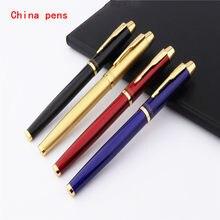4 Cores de Luxo qualidade 8007 Escritório de Negócios Médio Nib Fountain Pen Nova Dar o melhor presente