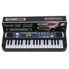 lps Toy musical instrument Electronic Piano with Microphone Educational Toys for Children 37 Keys Digital Music Keyboard Gift