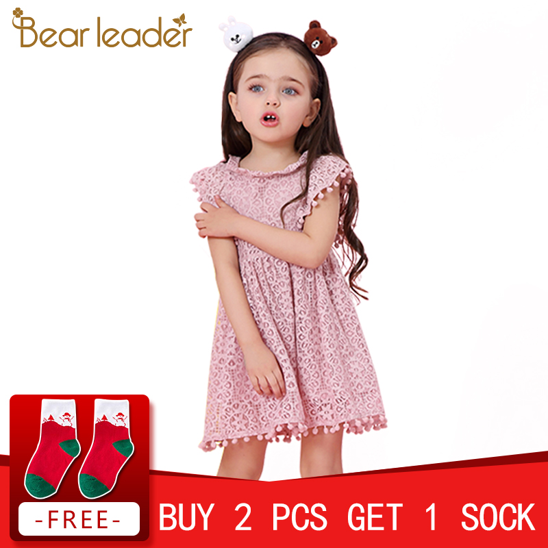Bear Leader Girls Dress 2018 New Summer Brand Girls Clothes Lace Petal Sleeve Design Baby Girls Dress Party Dress For 3-7 Years original ulka ep5 electromagnetic coffee machine medical apparatus pumps