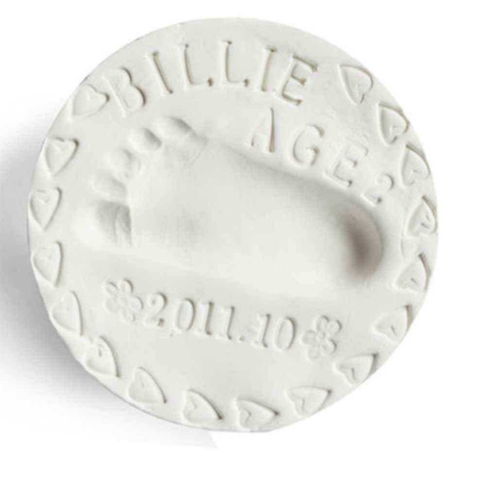 1 แพ็ค/Clay ของเล่นเด็ก Air Drying Soft ดิน Handprint รอยเท้าพิมพ์ลายนิ้วมือพิมพ์โคลน